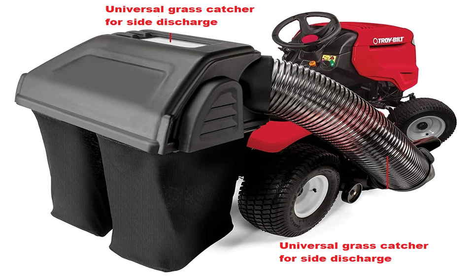 Universal grass catcher for side discharge