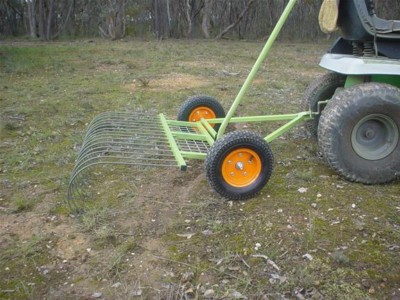 stick rake for riding lawn mower
