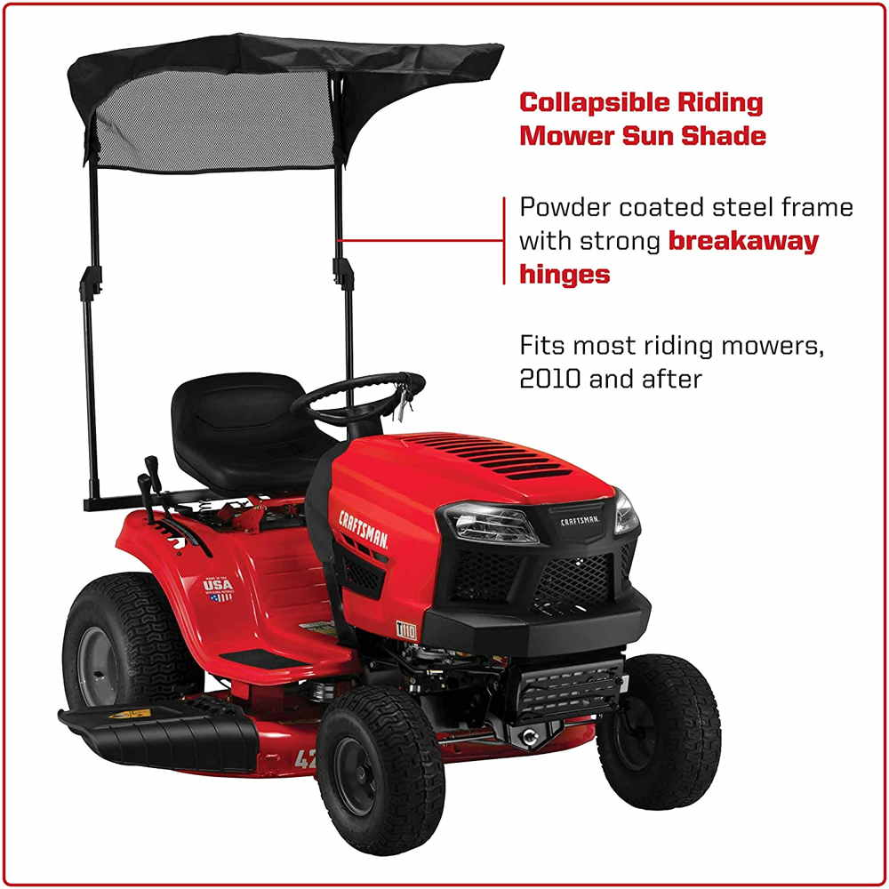 arnold collapsible sun shade for riding mowers canopy