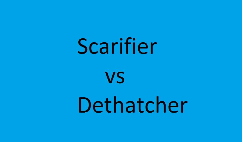 scarifier vs dethatcher
