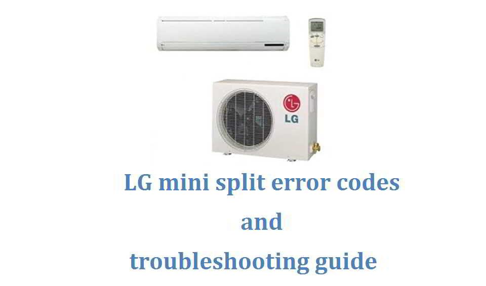 LG mini split error codes