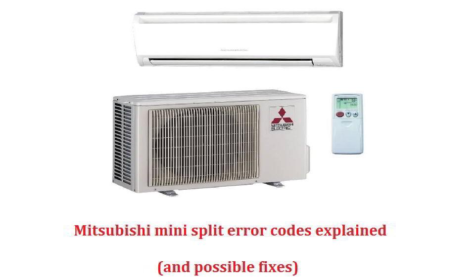 Mitsubishi mini split error codes