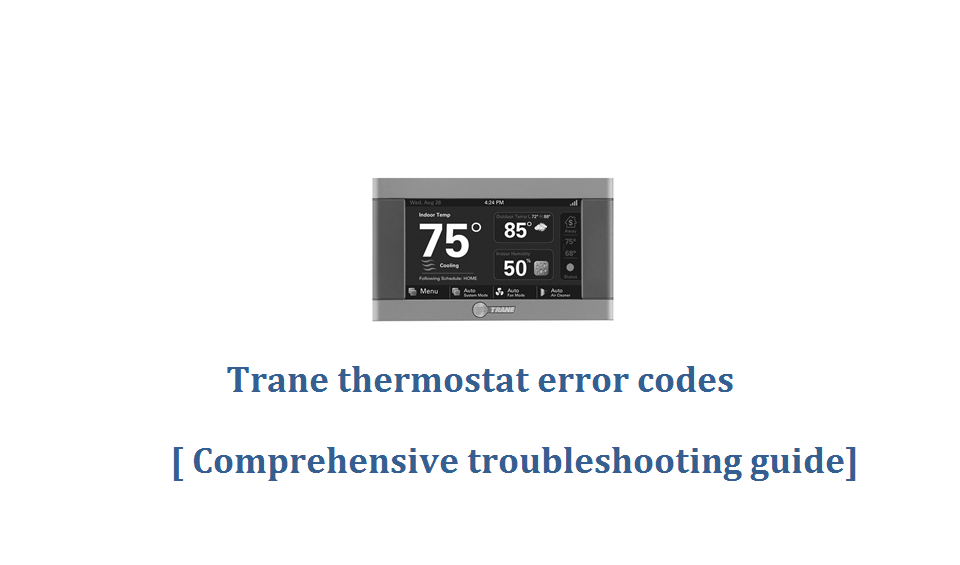 Trane thermostat error codes
