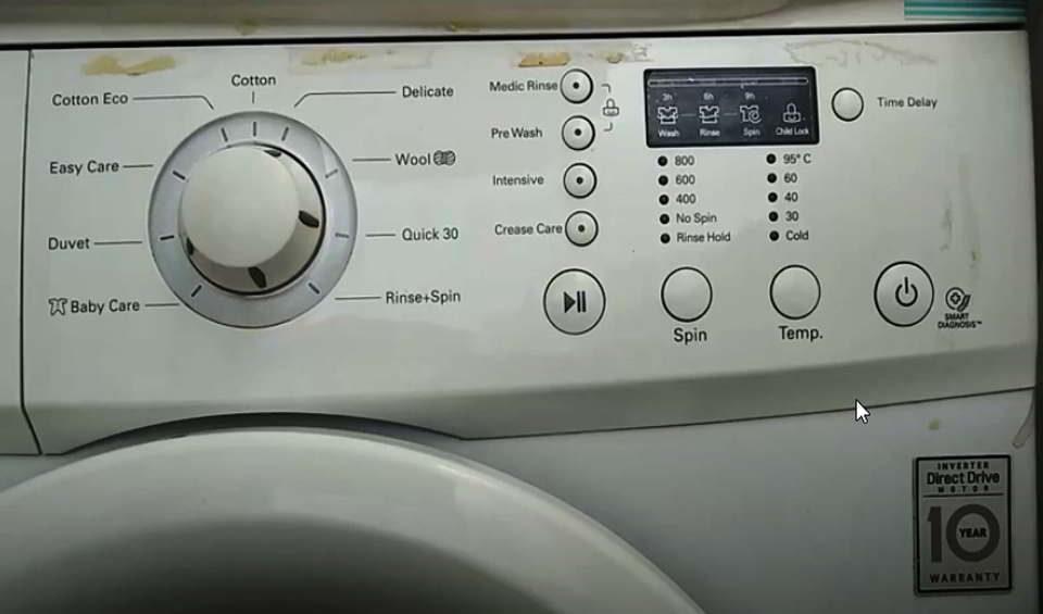LG washing machine start button not responding