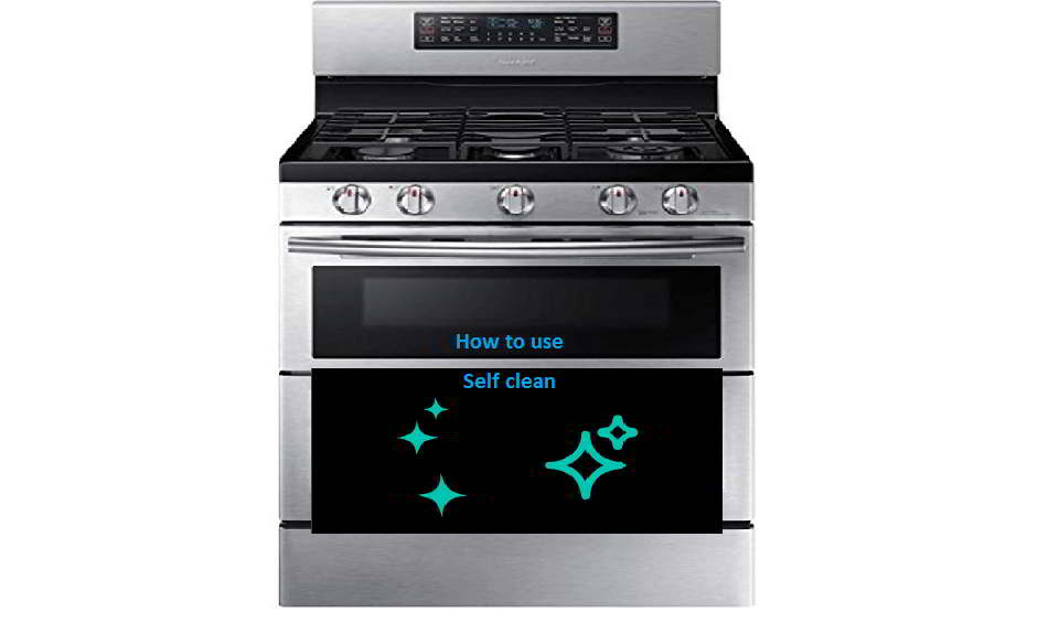 How to use self clean on Samsung oven