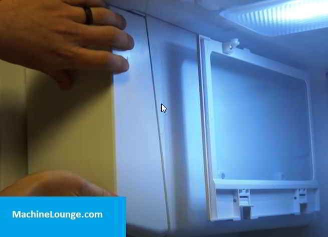 how to remove ice maker from samsung side by side
