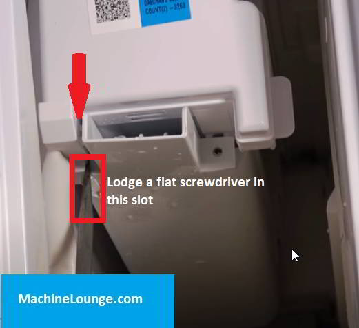 samsung ice maker wont come out
