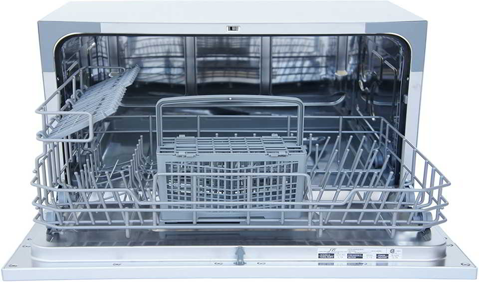How does a portable dishwasher work?
