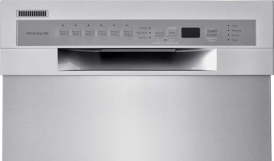 Frigidaire dishwasher control panel reset