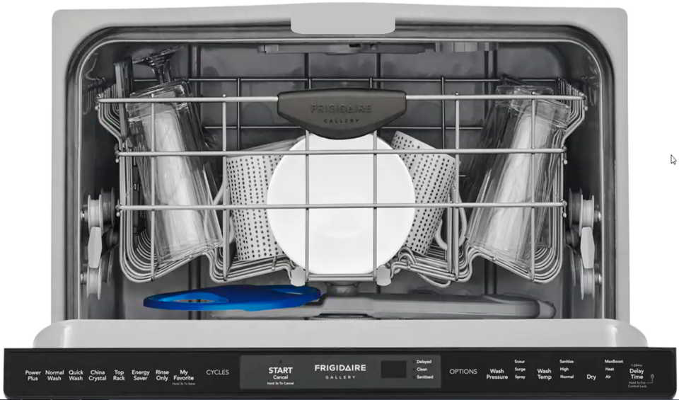 How to reset a Frigidaire gallery dishwasher