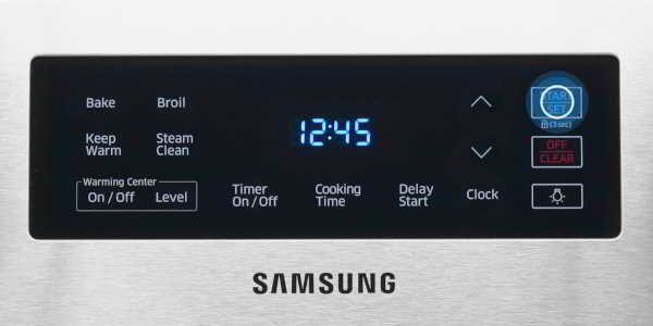 How long does it take to steam clean a Samsung oven?